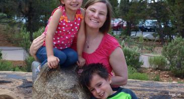 Dr. Hurwitz with her Children